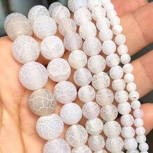 Cuentas de ónice para hacer joyas, espaciador abalorios redondos naturales, accesorios de pulsera de 15 '', 4, 6, 8, 10, 12mm