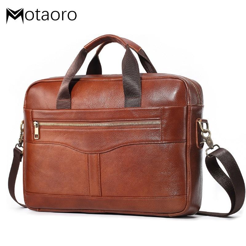New Genuine Leather Briefcases Messenger Bag Man Laptop Bag Casual Men Shoulder Bags Bolsa Masculina Bandolera Hombre Sac Homme