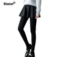 女性のファッション秋冬弾性暖かいベルベットレギンス 2 本セットレギンス & スカートセット女性のためのボトムスパンツパンタロンファム