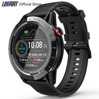 LOKMAT-reloj deportivo inteligente Comet pantalla completamente táctil de 1,3 pulgadas, con control del ritmo cardíaco, resistente al agua, para Android ios y hombre y mujer