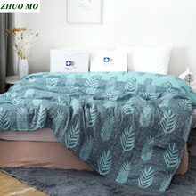 seaweed Bamboo fiber cotton Towel quilt blanket Throw on sofa for Home decoration Breathable sheets Mattress Quilt for Bed cover quilt fiber light collection comfort production company ecotex russia
