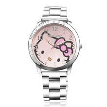 High quality cute kt cat children's watch, ladies' steel strap watch