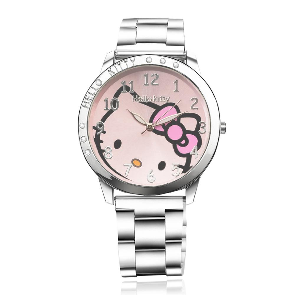High Quality Cute Kt Cat Children's Watch, Ladies' Steel Strap Watch Trendy Fashion Girls Watch, 2020 Hot Sale Children's Watch