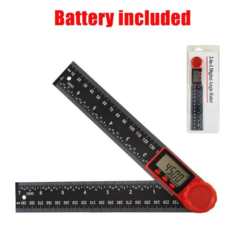 Hoek Heerser Goniometer Vierkante Digitale Lever Meter Contour Measurment Elektronische Gradenboog Meten Finder Inclincometer