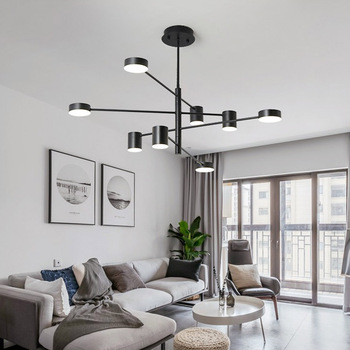 Modern Led Chandelier Black Gold White Ceiling Suspended Chandeliers Light Lamp for Hall Kitchen Dining Living Room Loft Bedroom black white square round led ceiling lamp living room dining room bedroom hall kitchen decoration modern dimming ceiling lamp