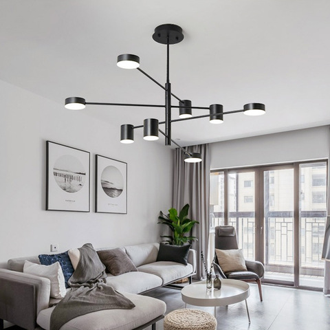 moderno ouro preto branco led teto suspenso lustre luz da lampada para sala de jantar