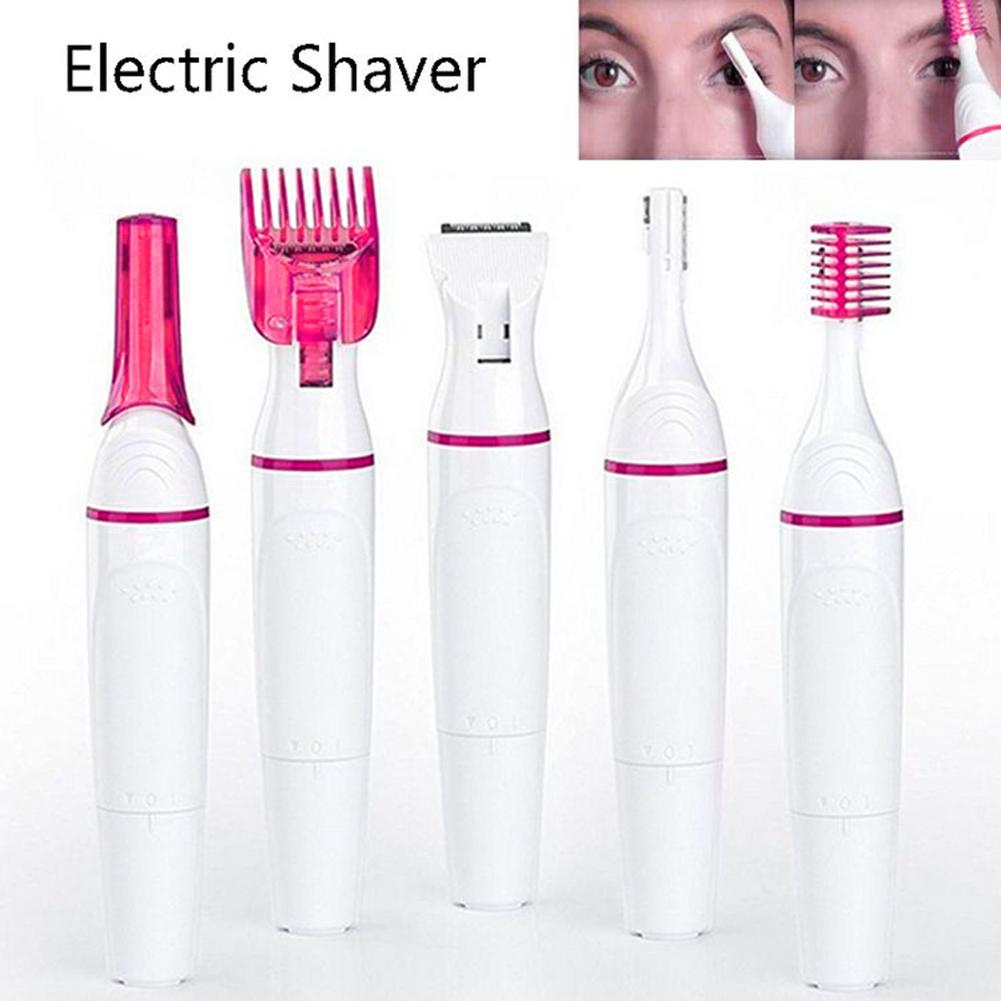 5 In 1 Electric Nose Ear Hair Trimmer Rechargeable Beard Eyebrow Trimmer Electric Nose Ear Shaver Hair 2019 New Arrival ! 11.11