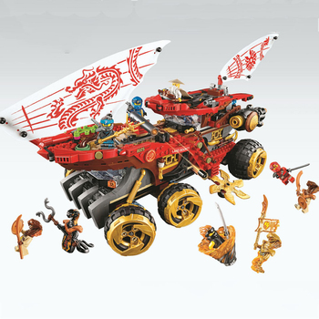 Lepin Ninjago 61029 858pcs Ninja Land Bounty Truck Model Building Blocks Compatible Lepining 70677 Ninjagoes Kids Toy Bricks 1