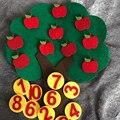 Монтессори учебное оборудование яблони Математические Игрушки Обучение детского сада Руководство Diy ткань Раннее Обучение Образование иг...