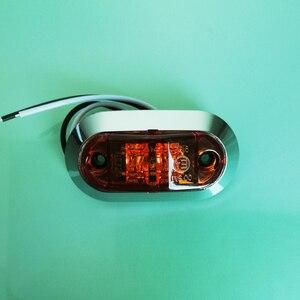 Image 2 - 10Pcs 12V 24V Side Marker Lights Car Front Rear Bumper Decorative Lamps Trailer Truck Boat Chrome Clearance Light