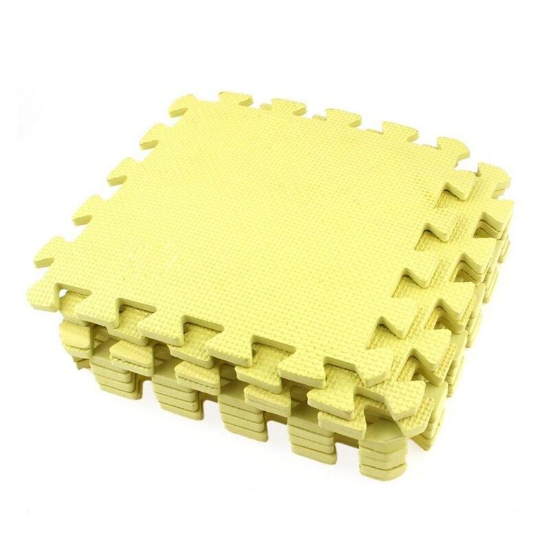 9x Yellow EVA Puzzle Mat Protective Mat Fitness Mat Floor Mat 28 X 28 X 0.8 Cm