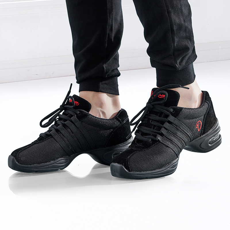 Black Modern Dance Sneakers Jazz Shoes