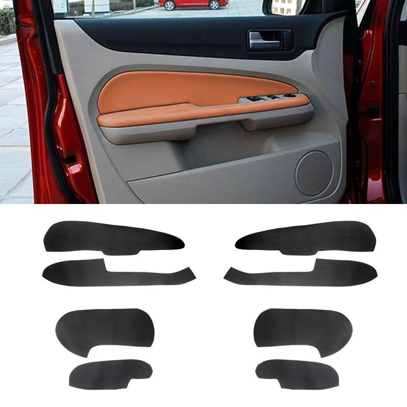 Dla Ford Focus 2005 2006 2007 2008 4 sztuk skóra z mikrofibry wewnętrzny uchwyt klamki samochodu podłokietnik/drzwi panel obudowa wewnętrzna wykończenia