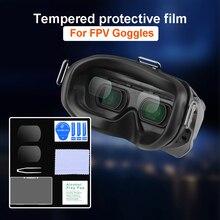 Film de protection trempé pour lunettes de Drone FPV Combo, anti poussière, Film de protection de lentille en verre HD, accessoires antidéflagrants