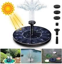 6 padrões de pulverização 1.5w fonte solar bomba alimentado a energia solar pássaro banho fontes de flutuação em pé para birdbath lagoa piscina jardim quintal