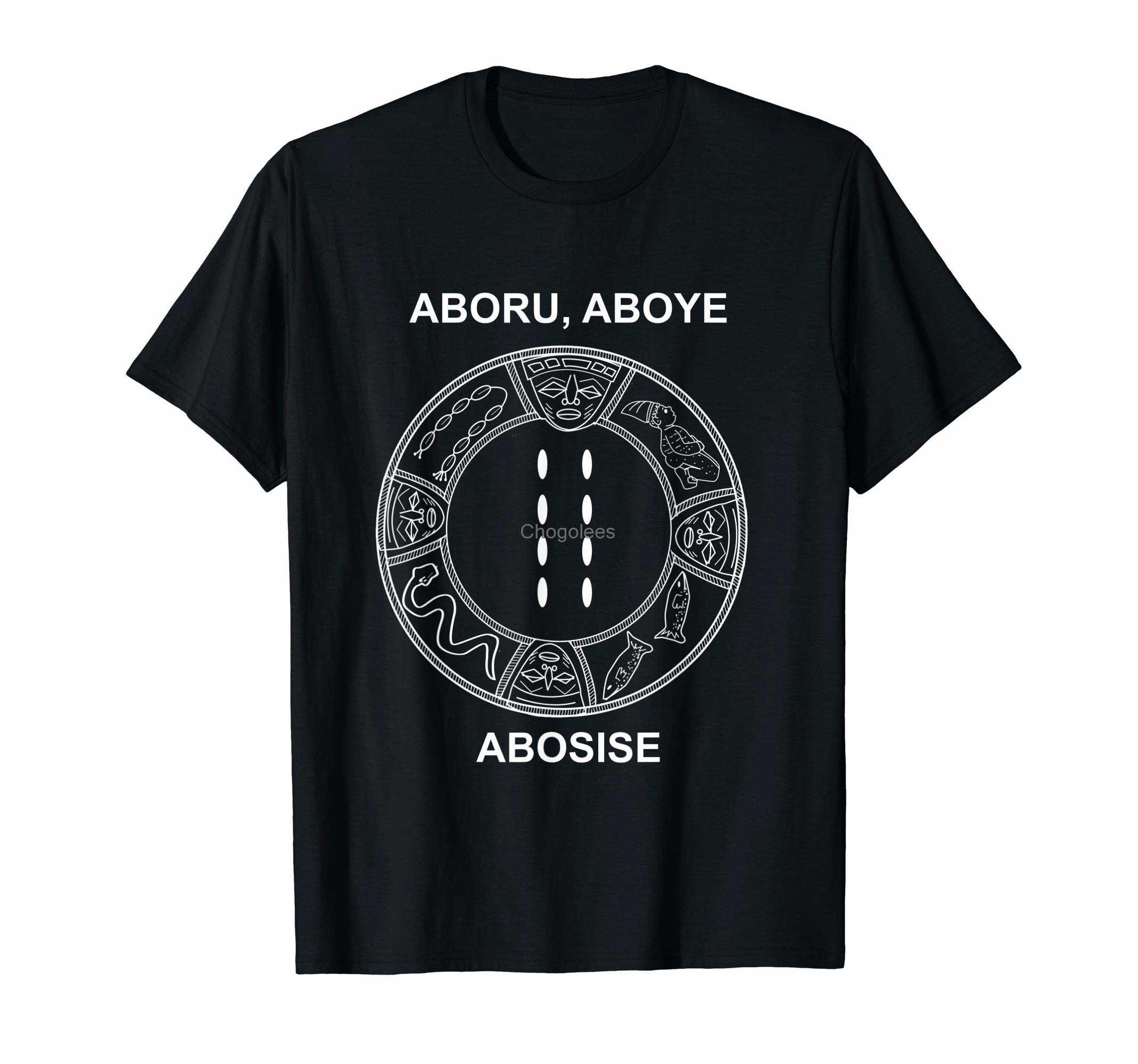 Темная футболка Eji Ogbe Aboru Aboye Abosise Ifa и Orisha