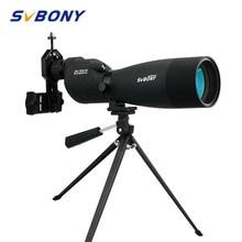 SVBONY זום טלסקופ 25 75x70 SV17 אכון היקף עמיד למים BAK4 פריזמה FMC ישר טלסקופ + שולחן חצובה + מתאם F9326 לציד, ירי, חץ וקשת, צפרות