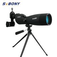 SVBONY Zoom Telescope 25-75x70 SV17 Spotting Scope Waterproof BAK4 Prism FMC Straight Telescope + table Tripod +Adapter F9326