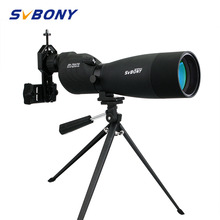 SVBONY zoom telescopio 25 75x70 SV17 telescopio terrestre catalejo impermeable BAK4 prisma FMC telescopio de tubo recto + trípode de escritorio + adaptador F9326