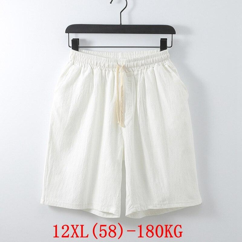 Women's Big Shorts Plus Size 11XL 12XL 10XL 9XL Summer Linen Large Stretch Sports Loose 56 5860 Black Large Size ShortsWomen's