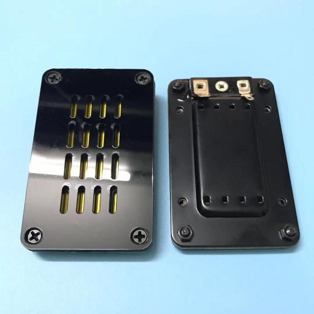 2 قطعة/الوحدة عالية الطاقة HiFi ديفونيشن المتكلم الشريط مكبر الصوت AMT محول الألومنيوم اللوحة الأمامية