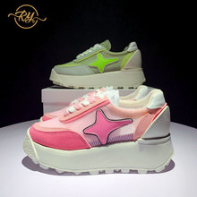 RY-RELAA womens shoes Genuine Leather luxury women sneakers fashion can