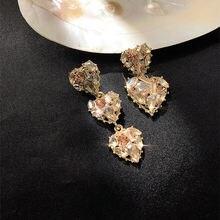 Ustar шикарные Кристальные серьги капли в форме сердца для женщин
