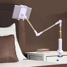 Tablet Stand Folding Long Arm Tablet Holder For Ipad Samsung Kindle 4-14 Inch 360 Rotation Strong Lazy Bed Tablet Stand Bracket цена и фото