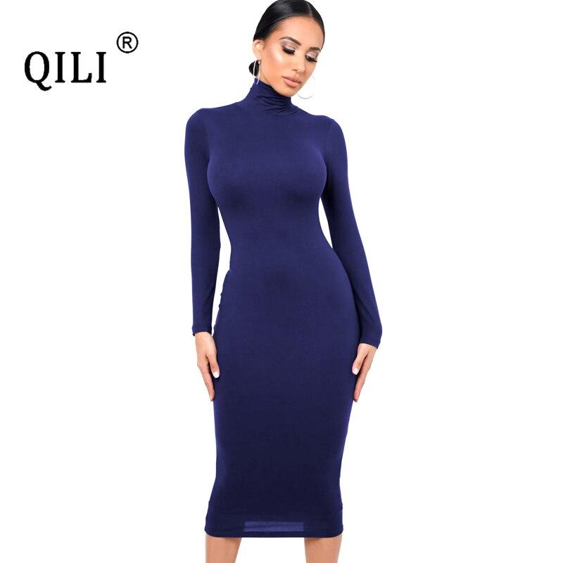 Купить женское облегающее платье карандаш с длинным рукавом и запахом