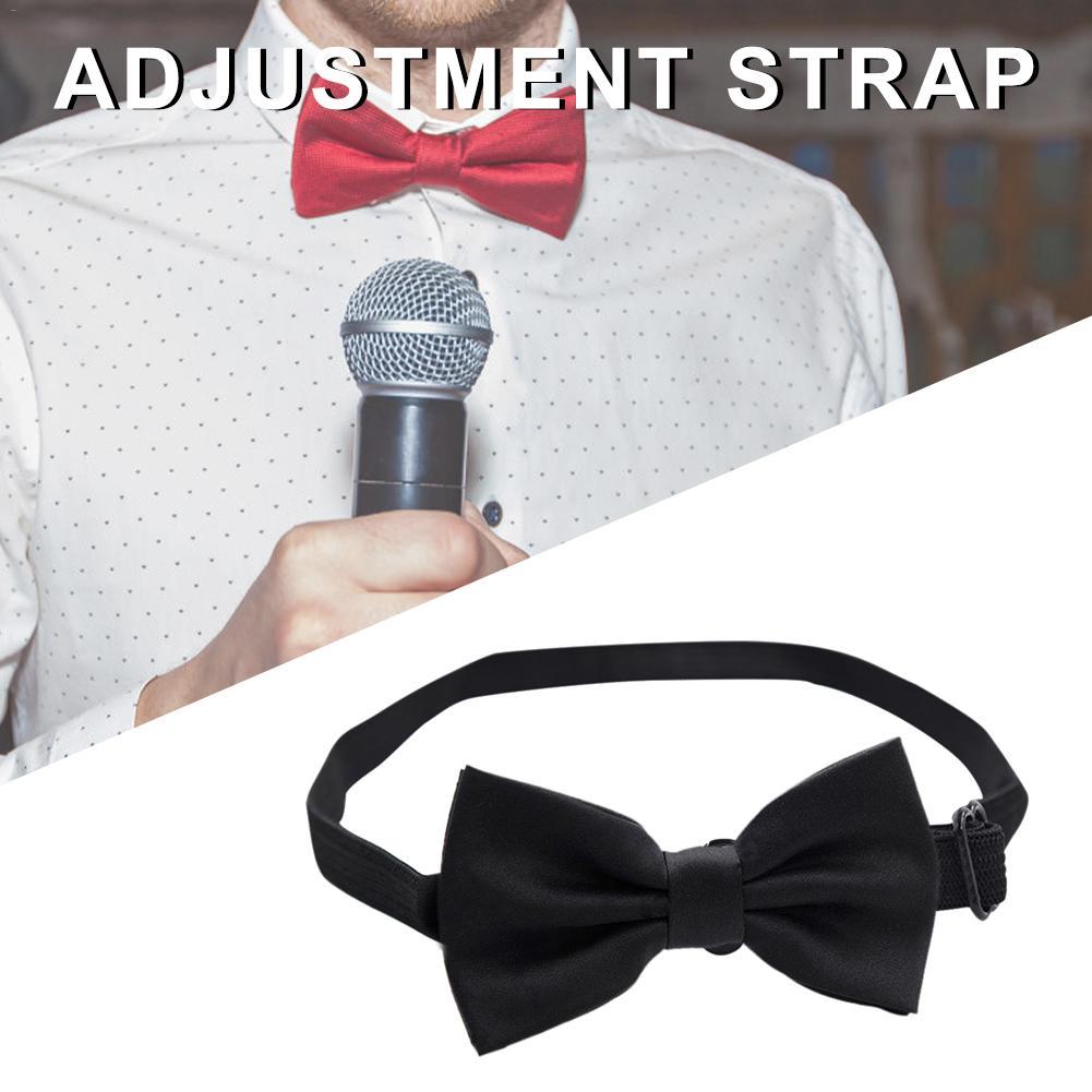 10Pcs/lot 1.0cm Bow Tie Adjustable Elastic Strap Versatile Belt Band For Adults Black One Size Tie Band Clothes Accessories 30E