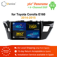 Ownice K3 K5 K6 2 Din Octa Core Android 9,0 coche Radio DVD GPS para Toyota COROLLA 2014 2015 2GB RAM 32GB ROM 360 Panorama 4G DSP(China)