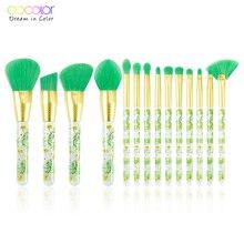 Docolor 14Pcs Makeup brushes set Beauty Foundation Powder Eyeshadow Make up Brush Synthetic Hair Cosmetics Make Up Brush Tool