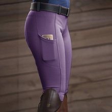 Horse Riding Pants Leggings Equestrian-Pants Tights Skinny-Trousers Elastic High-Waist