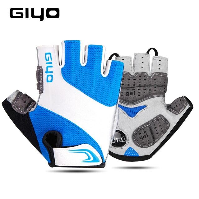 GIYO Bicycle Gloves Half Finger Outdoor Sports Gloves For Men Women Gel Pad