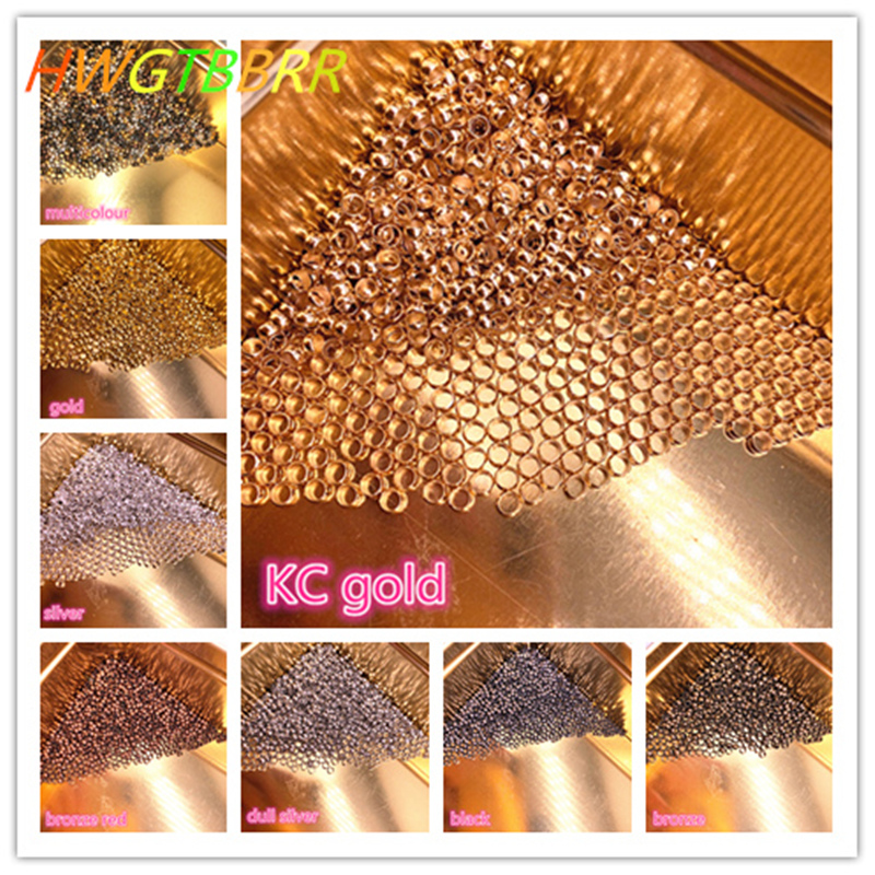 DIY 2/2.5/3/4mm Gold Silver Copper Ball End Crimp Beads Diameter Stopper Spacer Beads For Jewelry Making Finding|Jewelry Findings & Components| - AliExpress