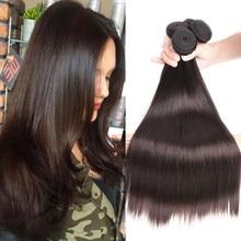 Para el cabello BEAUDIVA recto brasileño extensiones de cabello humano Marrón Oscuro #2 brasileño recto de la armadura del pelo paquetes de 3/4 8-24 pulgadas envío rápido