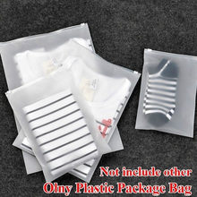 Plastic Package Cloth Travel Storage Pouch Waterproof Translucent Bag Zip Suitcase Cloth Organizer zip plastic bags(China)