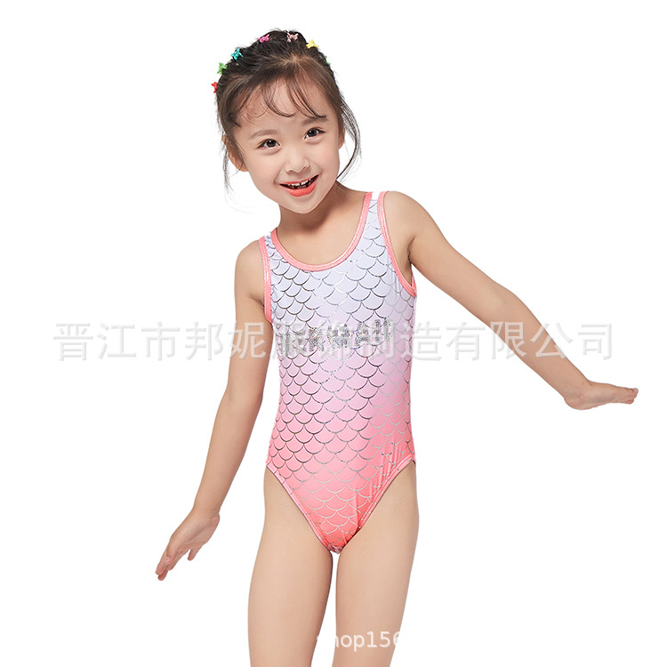 2019 New Style KID'S Swimwear Big Kid Cute Girls Siamese Swimsuit Swimming Suit Bathing Suit Women's GIRL'S Swimsuit