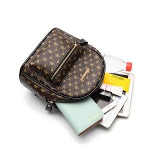 Image 4 - Luxury Famous Brand Design Women Backpack for Ladies Girls Vintage High Quality PU leather Back pack Bag Rucksack Bolsas Mochila