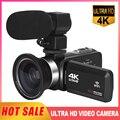 Видеокамера KOMERY 4K, 30 кадров в секунду, Ultra HD, видеокамера для YouTube, 16X, цифровой зум, заполнясветильник, Wi-Fi, видеорегистратор