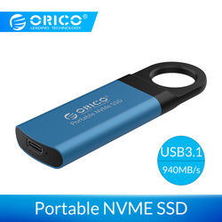ORICO Mini External SSD 1TB 128GB 256GB 512GB M2 NVME Hard Drive Mobile Portable SSD USB C 3.1 10Gbps External Solid State Drive