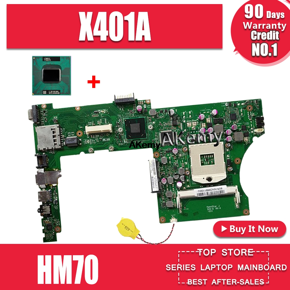 """For ASUS X501A X501A1 X401A REV 2.0 Motherboard HM76 Mainboard 15.6/"""" Test"""