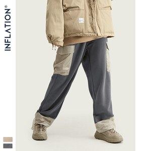 Image 4 - Мужские спортивные штаны с карманами INFLATION, серые свободные штаны прямого покроя в уличном стиле, 93440 вт, модель 2020 года