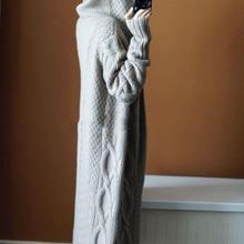 BARESKIY женский кашемировый свитер Весна и осень длинный кашемировый кардиган с капюшоном свободный толстый свитер пальто