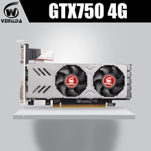 Veineda gtx750 4gb gddr5 placa gráfica gaming desktop computador pc placas de vídeo suporte dvi pci-e x16 2.0