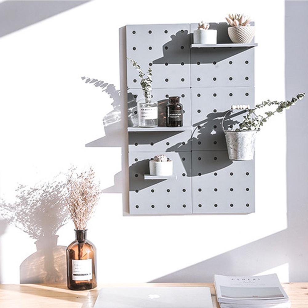 None Stylish Plastic Peg Board Wall-mounted Storage Shelf Kitchen Hone Decoration