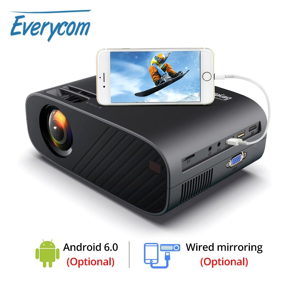 Светодиодный видеопроектор Everycom M7 HD 720P, портативный HDMI опционально, Android Wifi, проектор с поддержкой Full HD 1080P, домашний кинотеатр