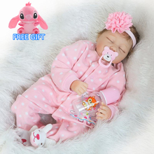 55cm Soft Silicone Reborn Baby Doll Toy Lifelike For Girl ba