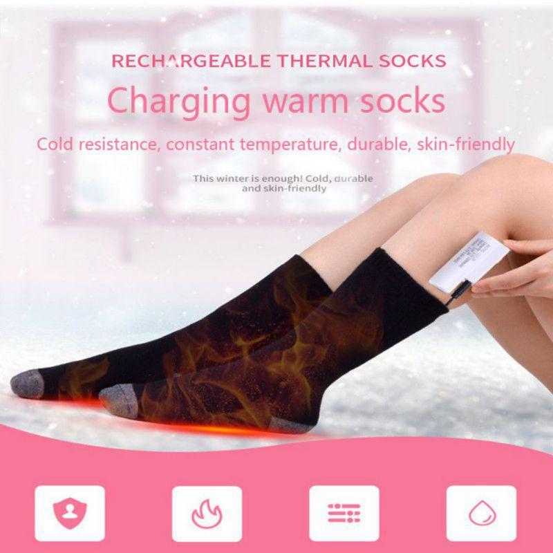 Унисекс электрические носки теплый Пыльник литиевая батарея инфракрасное Отопление электрические носки Регулируемая температура W3