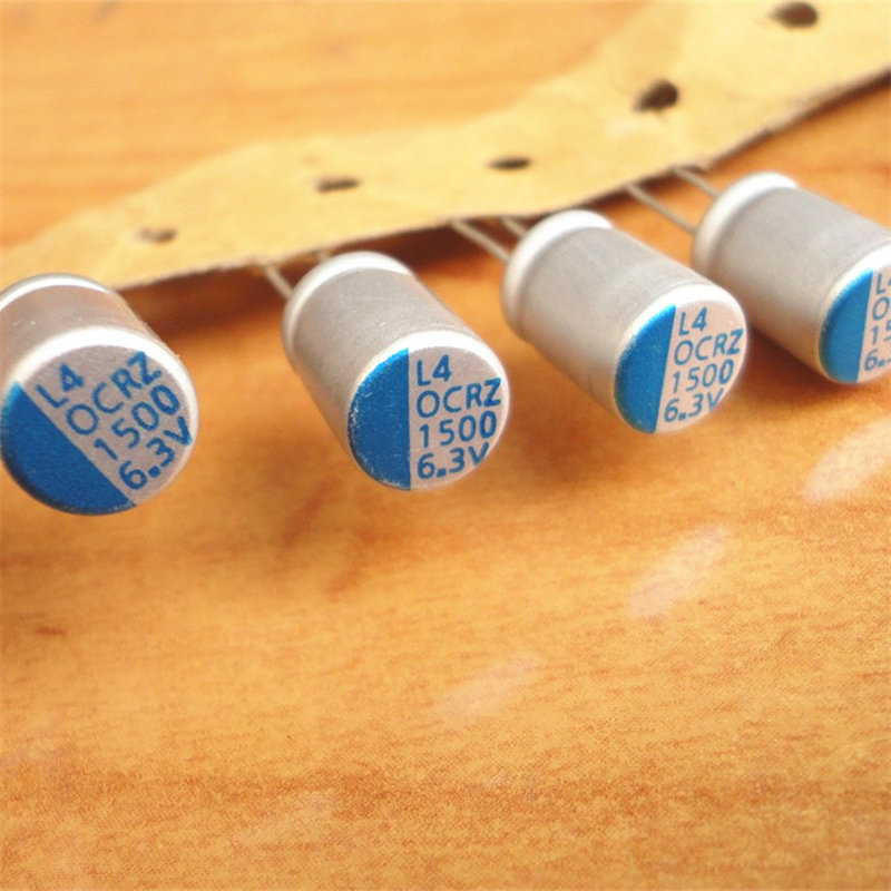 10Pcs 1500uF 6.3V LELON OCRZ Series 8x11.5mm 6.3V1500uF Ultra Low ESR MB/VGA Polymer Solid Capacitor